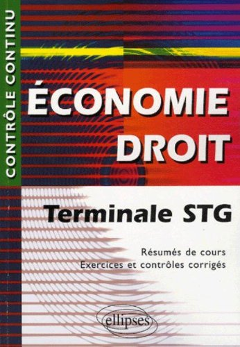 Economie Droit Tle STG