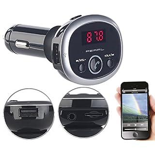 auvisio Auto, Bluetooth: MP3-FM-Transmitter mit Bluetooth, Freisprecher, USB-Port, für 12/24 V (Kfz Transmitter)