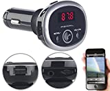 auvisio Bluetooth Auto: MP3-FM-Transmitter mit Bluetooth, Freisprecher, USB-Port, für 12/24 V (Kfz Transmitter)