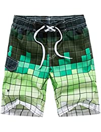 de8a75a3f0 Men's Swimming Shorts Summer Beach Shorts Swimming Trunks,Men's Fashion  Casual Printing Patchwork Beach Surfing