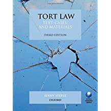 By Jenny Steele Tort Law: Text, Cases, and Materials (3rd Edition) [Paperback]