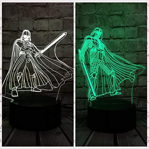 3D Optische Täuschung Nachtlicht 3D Täuschung Lampe Kindervielfalt 3D Led Hologramm Illusion Nachtlicht Ersatz Schlafzimmer Licht Wecker Form Licht Berührungsschalter Familie Tischlampe