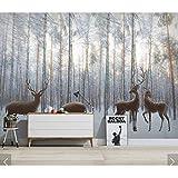 Ytdzsw Nordic Wald Holz Planke Tapete Wandbild Für Wohnzimmer Sofa Tv Hintergrund Wandverkleidung 3D Fototapete Natur Wandbilder-450X300Cm