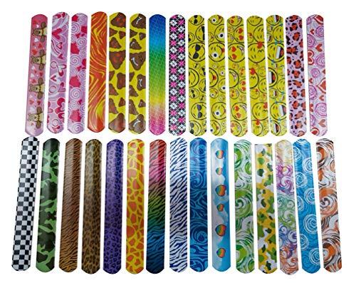 parmbänder für Party Snap Slap Armbänder Geburtstag Spielzeug Klatscharmband für Kinder Gastgeschenke Mitgebsel Mädchen Geburtstagsgeschenke 30 Stück Mehrfarbig ()