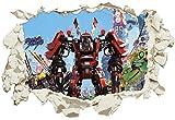Unified Distribution Lego - Ninjago - Kai - Wandtattoo mit 3D Effekt, Aufkleber für Wände und Türen Größe: 92x61 cm, Stil: Durchbruch