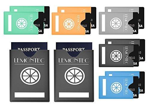 RFID-blockierender Ärmel Top Identität Diebstahl Schutz Travel Case Set. Portemonnaie passt oder Geldbeutel für einfache Anwendung. Schilde Radio Frequenz ID multi