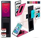 reboon Hülle für Meizu Pro 5 Ubuntu Edition Tasche Cover Case Bumper   Pink   Testsieger