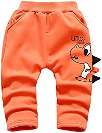 ARAUS Pantalones para Niños Dinosaurio Lindo Pantalones Gruesos de Sección en Cashmere 9 Meses-3 años