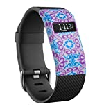 Greatfine Funda para Fitbit Charge / Fitbit Charge HR Carcasa De Gama Alta Silicona y Policarbonato (Angle)