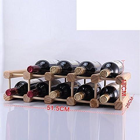 botellero de madera/estante del vino creativo/pino Decoración/muebles de estilo-G