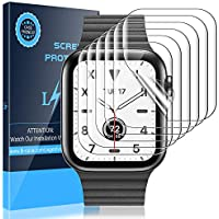 LK Protector de Pantalla para Apple Watch 44mm / 42mm Series 5/4, [6 Pack] [TPU-Film] [Adsorcion anhidra] HD Soft Claro Suave Protector para Apple Watch Series 4 / Series 5 42mm / 44mm