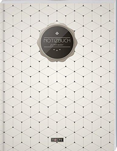 """TULPE Punktraster Notizbuch A4 \""""C110 Schlichtes Muster\"""" (140+ Seiten, Vintage Softcover, Punktkariertes Papier - Bullet Journal, Dickes Notizheft, ... Gepunktete Seiten, Dot Grid Notebook)"""