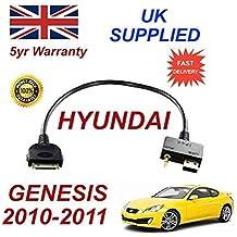 Hyundai Genesis Coupe 2009–2010iPod iPhone 3GS 44S 3.5mm de audio de conectividad & USB Cable