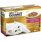 Purina Gourmet Gold Doble Placer - Paquete de 12 x 85 gr - Total: 1020 gr