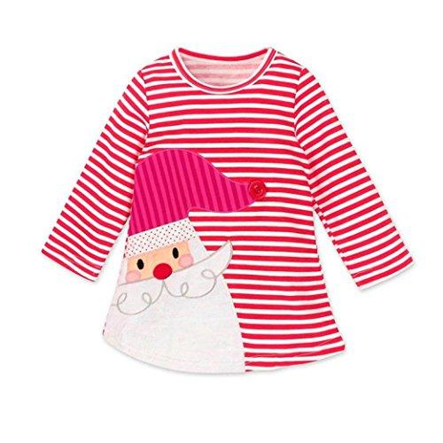 öcke Kinder mädchen Mädchen Prinzessinnenkleid Weihnachten Babykleidung Kleider Outfits Mädchen Hemdkleid kleiden für Kinder (120, Rot) ()
