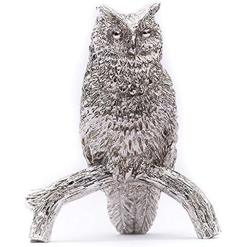 Búho (Tamaño L) Hecho en Reino Unido Artístico Animal Figura Colección