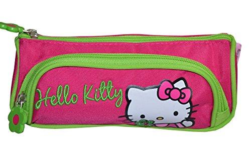 Hello Kitty–Estuche de doble compartimento (bolsa escolar o neceser para cosmética)