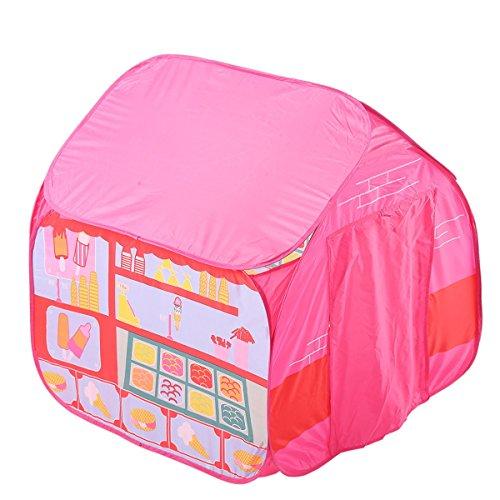 LYQZ Tienda de Juegos para niños Juego de Camping Casa para Persona Soltera Juego de casa de Esquina al Aire Libre Ocean Ball Pool (Rosa 35.4 * 35.4 * 35.4 Pulgadas Embalaje de 1)