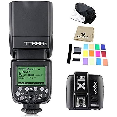 Godox Thinklite TT685C TTL per Flash E-TTL HSS, alta velocità, 1/8000s GN60 per fotocamere digitali Canon Digital EOS 400D, 450D, 500D, 550D, 600D, 650D 1000D 1100D, 30D, 40D, 50D, 60D 5D Mark II, 5D Mark III, 6D, 7D