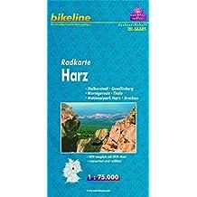Bikeline Radkarte Harz 1 : 75 000, wasserfest und reißfest, GPS-tauglich mit UTM-Netz