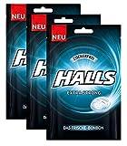 Halls Bonbon Extra Strong sin azúcar, paquete de 3 (3x65g)