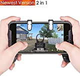 PUBG Mobile Game Controllers Gamepad Qoosea Sensitive Shoot Aim Joysticks Physical Buttons L1R1 Ergonomic Design Handgrip Game Triggers for Knives Out/PUBG/Rules of Survival for all 4.5-6.5inch Android IOS