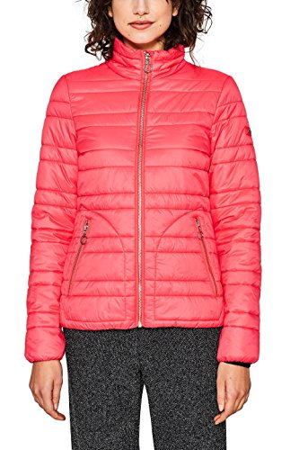 edc by ESPRIT Damen Jacke 018CC1G012, Rot (Coral Red 640), X-Small