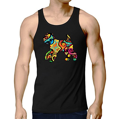 Eddany Psychedelic Welsh Terrier Tank Top (Herren Top Tank Terrier)