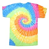Colortone Unisex Batik T-Shirt 'Swirl'/Eternity, M