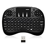 Mini Clavier, 2,4 GHz Clavier sans Fil / 20 Mètres Plage / 76 Touches Touchpad pour Smart TV, TV Box Android, HTPC, IPTV, XBO X360, PC, Pad, PS3, tablettes, etc