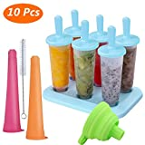 Molde para Helados, Joylink Moldes de Paletas BPA y Reutilizable Moldes de Polos Frozen Yogurt Helado Pop Mold Popsicle para Niños Lolly Maker Moldes