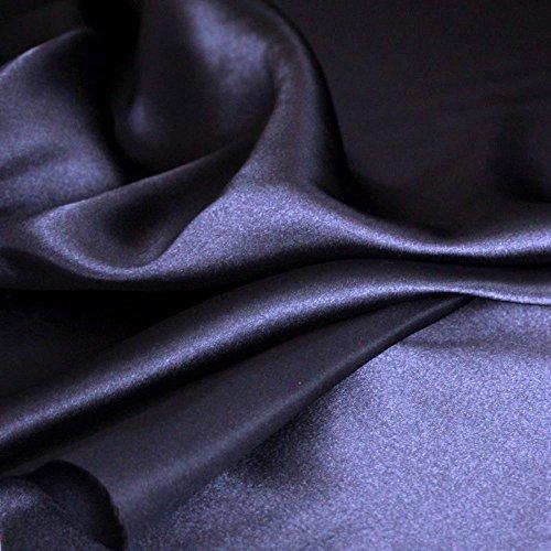 Glanz SATIN Modestoff/Deko-Stoff/Kostümstoff als Meterware am Stück (Nacht-Blau)