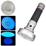 Grandorient 100 LED UV Ultraviolet Black Light Flashlight Torch 6pc AA Battery Included Pet Dog & Cat Urine Stain Detector Home & Hotel Room Inspection Light Counterfeit Money Checker
