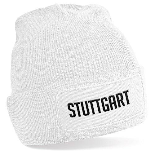 Stuttgart , Beanie Mütze / White