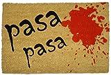 koko doormats 135053 Felpudo con diseño Pasa, Coco, 60 x 40 cm