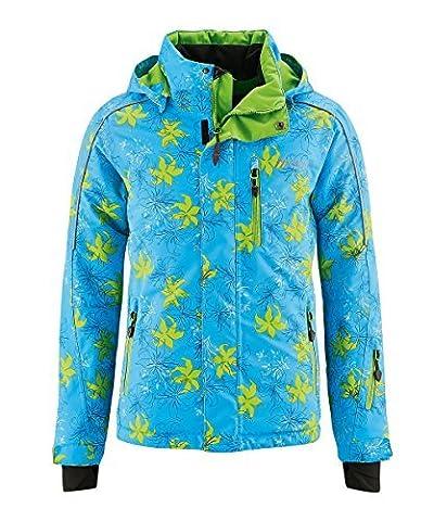 maier sports Kinder SkijackeFlower, blue/green 176