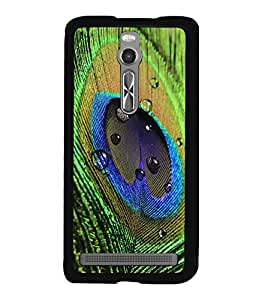 printtech Peacock Bird Feather Colorful Back Case Cover for Asus Zenfone 2 , Asus Znfone 2 ZE550ML