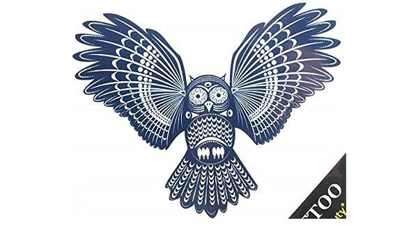 Fake-Tattoos heißer Verkauf modische schwarze Eule gefälschte ...