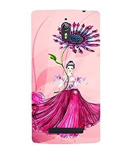 PrintVisa Cute Flower Girl Butterfly Design 3D Hard Polycarbonate Designer Back Case Cover for Oppo Find 7