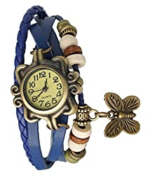 Butterfly analogue womens watch blue