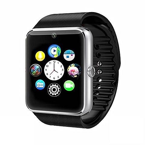 BYD - SmartWatch, Bracelet Watch Bluetooth SmartWatch Bracelet en Silicone Montre Sport I5 Plus Bluetooth 4.0 Avec Camera Écran Tactile Connectée Alculatrice,Suivi Sommeil,Numéroteur Apple / LG / Samsung / Wiko / Huawei / Sony / Meizu .etc