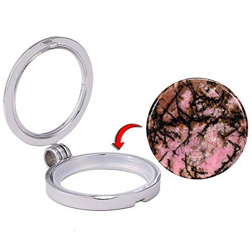 Morella Small Coins Moneta amuleto Ciondolo Chakra Rotondo 23 mm Gemma Pietra preziosa