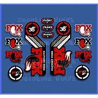 Ecoshirt NC-GPXZ-LVQO Stickers Fork Fox Float 36 2015 Heritage DP1087 Stickers Aufkleber Decals Autocollants Desivi, Red