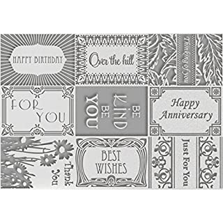 Couture Creations Cherish Me A4 Embossing Folder - Sayings, Transparent
