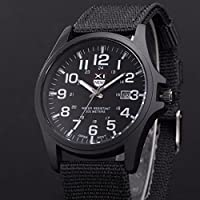 Kycut Mens Wrist Watches Online Shopping Outdoor Mens Date Stainless Steel Military Sports Analog Quartz Army Wrist Watch Black