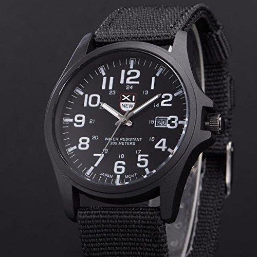 Kycut Herren-Armbanduhr, Online, Einkaufen, Outdoor, Datum, Edelstahl, Militär, Sport, Analog, Quarz, Armee-Armbanduhr
