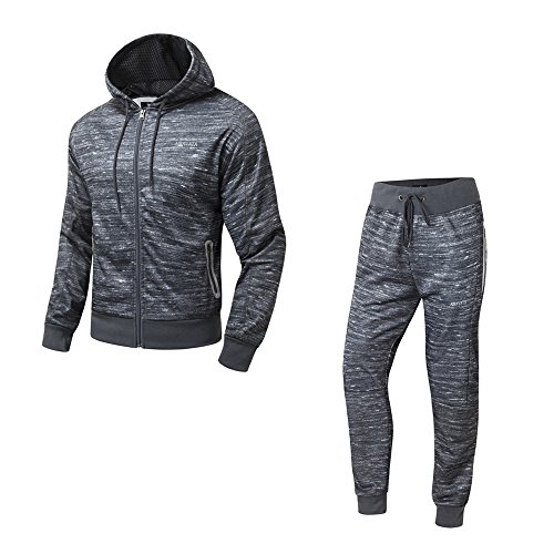 YMYi -  Tuta da ginnastica  - Uomo 222_charcoal Grey