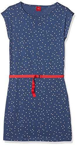s.Oliver Mädchen Kleid 73.806.82.2804, Blau (Blue Aop 57a1), - Kleid Mädchen Blau