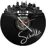 Skyline Schalke 2018 Wanduhr aus Vinyl Schallplattenuhr Upcycling Design Uhr