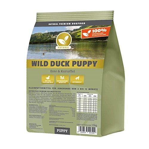 Hundeland Natural | Wild Duck Puppy | 15 kg | Ente +...